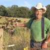 """Photo - Joel Salatin, owner/farmer of Polyface Farms in Virginia, raises grass-fed livestock, as shown in the film """"Food, Inc."""" MAGNOLIA PICTURES PHOTO"""