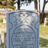 Headstone erected by a young trooper\'s comrades at Ft. Reno. KIA at the Battle of Turkey Springs 1878. Last known battle between American Indians and the U.S. Cavalry in Oklahoma. Photo by Lindell Dillon