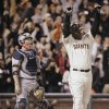 FILE - This Aug. 7, 2007 file photo shows San Francisco Giants\' Barry Bonds, right, celebrating after hitting his 756th career home run against the Washington Nationals during the fifth inning of their baseball game in San Francisco. Looking on at left is Nationals\' catcher Brian Schneider. Baseball\'s all-time home run king and its most decorated pitcher likely will be shut out of the Hall of Fame when the vote is announced in January. An AP survey shows that Barry Bonds and Roger Clemens, as well as Sammy Sosa, don\'t have enough votes to get into Cooperstown. (AP Photo/Eric Risberg, File)