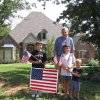 Bob Drumm and his sons, Evan, Joshua and Ben helped plant flags in their neighborhood of Redbud Canyon. In honor of September 11, 2001. Community Photo By: Dena Bleeker Submitted By: Dena, Edmond