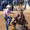 Trevor Hedeman, from Morgan Mill, TX, in the Calf Roping at the International Finals Youth Rodeo in Shawnee, Friday, July 11, 2014. Photo by David McDaniel, The Oklahoman