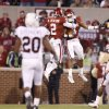 OU\'s Jonathan Nelson, right, celebrates with Brian Jackson after Nelson intercepted a pass during the Big 12 college football game between the University of Oklahoma Sooners and the Texas A&M Aggies at Gaylord Family - Oklahoma Memorial Stadium in Norman, Okla., Saturday, November 14, 2009. Photo by Bryan Terry, The Oklahoman