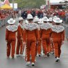 Members of the Texas band walk the fair during the Red River Rivalry college football game between the University of Oklahoma (OU) and the University of Texas (UT) at the Cotton Bowl in Dallas, Saturday, Oct. 13, 2012. Photo by Chris Landsberger, The Oklahoman