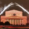 FILE - In this Friday, Oct. 28, 2011 file photo, fireworks are seen during the re-opening of the Bolshoi Theater in Moscow, Russia. The Moscow police said Friday, Jan. 18, 2013, that artistic director at the legendary Bolshoi Theater Sergei Filin was attacked Thursday night by a man who splashed acid onto his face as the 43-year-old former dancer came out of his car outside his home in central Moscow. (AP Photo/File)