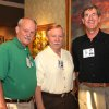 Frank Battle, Ken Howell, Hal McKnight were among the organizers for the 45th reunion party for Harding High School. Others were Steve Haggard and Jim Rust. Guests gathered at the Howell Gallery. (Photo by David Faytinger).