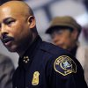 FILE - In this Thursday, Jan. 5, 2012 file photo, Detroit Police Chief Ralph Godbee speaks during a news conference at the Northeastern District Police Station, in Detroit. Detroit Mayor Dave Bing on Tuesday, Oct. 2, 2012 suspended Godbee in a probe of unspecified allegations. The mayor says he placed Godbee