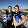 Photo - Deer Creek's Joel Blumenthal, left, and Austin Loomis pose for photos at Deer Creek High School stadium in Oklahoma City, Wednesday November 01, 2012. Photo By Steve Gooch, The Oklahoman
