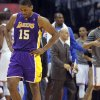 Los Angeles\' Metta World Peace reacts after a turnover during Game 2 in the second round of the NBA playoffs between the Oklahoma City Thunder and the L.A. Lakers at Chesapeake Energy Arena on Wednesday, May 16, 2012, in Oklahoma City, Oklahoma. Photo by Chris Landsberger, The Oklahoman