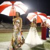 From left to right, members of Edmond North\'s homecoming court, Madeline Giddens, Miranda King, Katie Dean and Cailin Adams, wait to be announced during the high school football game between Edmond North and Del City, Thursday, Sept. 23, 2010, at Wantland Stadium in Edmond, Okla. Photo by Sarah Phipps, The Oklahoman