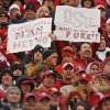 Oklahoma fans support their Sooners during the first half of the college football game between the University of Oklahoma Sooners (OU) and the Oklahoma State University Cowboys (OSU) at the Gaylord Family-Memorial Stadium on Saturday, Nov. 24, 2007, in Norman, Okla. Photo By CHRIS LANDSBERGER, The Oklahoman