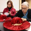 Donnia (cq) Barrett, right, of Yukon, and her granddaughter, Dannette Goodner of Thomas make their hats. A dozen women came to the Oklahoma History Center on Saturday, Feb. 1, 2014, to learn the art of hat-making from volunteer Barbara who conducted the day-long milliner class at the Oklahoma Historical Society. Photo by Jim Beckel, The Oklahoman