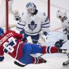 Photo - Montreal Canadiens' Max Pacioretty (67) takes a shot against Toronto Maple Leafs goaltender Jonathan Bernier as Leafs' Joffrey Lupul, right, defends during the first period of an NHL hockey game in Montreal, Saturday, March 1, 2014. (AP Photo/The Canadian Press, Graham Hughes)