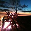 Sitting by the fire. Lake Eufaula. Photo by Jeff Keller