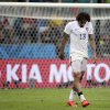 United States\' Jermaine Jones walks off the pitch at the end of the extra time during the World Cup round of 16 soccer match between Belgium and the USA at the Arena Fonte Nova in Salvador, Brazil, Tuesday, July 1, 2014. Belgium held on to beat US 2-1 in extra time.(AP Photo/Felipe Dana)