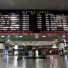 A timetable board displays continued cancellations at Penn Station as MTA resumed limited service on Thursday, Nov. 1, 2012, in New York. The decision to reopen undamaged parts of the nation's largest transit system came as the region struggles to restore other basic services to recover from a storm that ravaged the East Coast, killing more than 70 people and leaving millions powerless. (AP Photo/CX Matiash)
