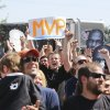 Oklahoma City Thunder fans cheer during a rally for Kevin Durant\'s MVP announcement at the Thunder Community Events Center in Edmond, Tuesday May 06, 2014. Photo By Steve Gooch, The Oklahoman