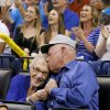 Photo -  Dale and Lois Higgins appear on the Kiss Cam during a timeout in the April 11 game between the Oklahoma City Thunder and the New Orleans Pelicans at Chesapeake Energy Arena. Oklahoma City won 116-94. Photo by Bryan Terry, The Oklahoman   BRYAN TERRY -