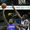 Detroit Pistons\' Rodney Stuckey (3) takes a shot over Orlando Magic\'s Andrew Nicholson, right, during the first half of an NBA basketball game, Wednesday, Nov. 21, 2012, in Orlando, Fla. (AP Photo/John Raoux)