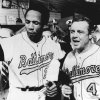 FILE - In this Oct. 6, 1969 file photo, Baltimore Orioles manager Earl Weaver, right, and outfielder Frank Robinson celebrate in the dressing room following their team\'s 11-2 win over the Minnesota Twins for the American League championship, in Minneapolis. Weaver, the fiery Hall of Fame manager who won 1,480 games with the Baltimore Orioles, has died, the team announced Saturday, Jan. 19, 2013. He was 82. (AP Photo/File)