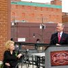 Avis Scaramucci, owner of Nonna\'s, listens as Oklahoma City mayor Mick Cornett talks about the state of Bricktown and Oklahoma City in general at a press briefing in Bricktown at Nonna\'s Wednesday April 15, 2009. Photo by Steve Lackmeyer, The Oklahoman.