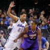 Tulsa\'s Andre Roberson (21) defends Iowa\'s Larry Owens (23) during the NBA Developmental game between the Tulsa 66ers and the Iowa Energy at the Chesapeake Energy Arena in Oklahoma City, Okla. on Tuesday, Feb. 4, 2014. Photo by Chris Landsberger, The Oklahoman