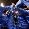 The Thunder huddle up before the NBA basketball game between the Oklahoma City Thunder and the Cleveland Cavaliers at Chesapeake Energy Arena in Oklahoma City, Friday, March 23, 2012. Photo by Bryan Terry, The Oklahoman
