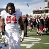 OU\'s Frank Alexander walks off the field after OU\'s 41-13 loss in the college football game between the University of Oklahoma Sooners (OU) and Texas Tech University Red Raiders (TTU ) at Jones AT&T Stadium in Lubbock Okla., Saturday, Nov. 21, 2009. Photo by Bryan Terry, The Oklahoman