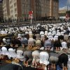 Photo - Yemeni pro-democracy protestors pray during a rally in Sanaa, Yemen, Friday, Dec. 28, 2012. (AP Photo/Hani Mohammed)