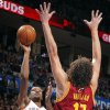 Oklahoma City\'s Kevin Durant (35) shoots over Cleveland\'s Anderson Varejao (17) during the NBA basketball game between the Oklahoma City Thunder and the Cleveland Cavaliers at the Chesapeake Energy Arena, Sunday, Nov. 11, 2012. Photo by Sarah Phipps, The Oklahoman