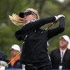 Photo - Jessica Korda hits on the first tee during a pro-am for the Shoprite Classic golf tournament in Galloway, N.J., , Thursday, May 29, 2013. (AP Photo/The Press of Atlantic City, Michael Ein) MANDATORY CREDIT