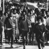 Douglass High School demonstrators march across Hudson in this undated photo from the 1960s. The protestors were heading west on Park Avenue to City Hall to show support for a city sanitation workers\' strike. GEORGE TAPSCOTT - THE OKLAHOMA CITY TIMES