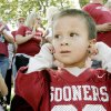 Vinh Torres, 4, of OKC reacts to a band passing during the Uinversity of Oklahoma homecoming parade Saturday, Oct. 13, 2007 in Norman, OK. BY JACONNA AGUIRRE/THE OKLAHOMAN.
