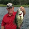 Crappie are still biting in Oklahoma. Former Oklahoma pitcher Scott Hamilton of Silo caught this 3 pound, 8 ounce slab on Memorial Day from a private lake near Madill. Hamilton was an All-Big Eight pitcher for the Sooners\' baseball team in 1986. PHOTO PROVIDED
