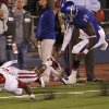 Oklahoma\'s Ryan Broyles (85) dives for the end zone in front of Kansas\' Victor McBride (19) and Lubbock Smith (1) during the college football game between the University of Oklahoma Sooners (OU) and the University of Kansas Jayhawks (KU) on Sunday, Oct. 16, 2011. in Lawrence, Kan. Photo by Chris Landsberger, The Oklahoman