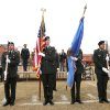 The Broncho Battalion Color Guard presents the colors as the University of Central Oklahoma Veteran Support Alliance honors veterans with a ceremony on Veterans Day at UCO\'s Plunkett Park in Edmond, OK, Friday, Nov. 11, 2011. By Paul Hellstern, The Oklahoman