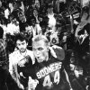 During the Sooners\' 1985-86 Orange Bowl, OU linebacker Brian Bosworth left no question as to who was No. 1. OU beat the Penn State 25-10 to win the title. PHOTO BY JIM ARGO, The Oklahoman Archive