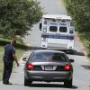 A Boston Police crime scene response van enters the Puritan Lawn Memorial Park Cemetery in Peabody, Mass., where authorities plan to exhume Albert DeSalvo\'s body from a grave to confirm a forensic link to a Boston Strangler case, Friday, July 12, 2013. Suffolk DA Dan Conley believes the exhumation will tie DeSalvo to the death of Mary Sullivan, possibly the Strangler\'s last victim. DeSalvo was the man who first confessed to being the Boston Strangler, but later recanted before his stabbing death in prison as he served a life sentence for other crimes. (AP Photo/Bizuayehu Tesfaye)