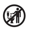 This undated image provided by INDA, an industry trade group, shows the universal stick-figure, do-not-flush symbol to put on packaging of bathroom wipes that should not be flushed into sewer systems. Increasingly popular bathroom wipes - thick, premoistened towelettes that are advertised as flushable - are creating clogs and backups in sewer systems around the nation. (AP Photo/INDA)