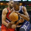 Oklahoma City\'s Kevin Durant (35) goes past Portland\'s Nicolas Batum (88) during an NBA basketball game between the Oklahoma City Thunder and the Portland Trail Blazers at Chesapeake Energy Arena in Oklahoma City, Tuesday, Dec. 31, 2013. Photo by Bryan Terry, The Oklahoman