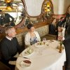 This 2012 photo released by Disney shows a couple enjoying a champagne brunch at Remy, the adults-only restaurant on Disney\'s Fantasy and Dream ships. The $50 per person brunch is part of a continuing trend in the cruise ship industry for upscaled and expanded specialty food options, many of which carry extra fees. (AP Photo/Disney, Kent Phillips)