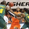 OSU\'s Markel Brown (22) passes the ball away from Baylor\'s Cory Jefferson (34), left, and Pierre Jackson (55) in the first half of a men\'s college basketball game between the Oklahoma State University Cowboys and the Baylor University Bears at Gallagher-Iba Arena in Stillwater, Okla., Saturday, Feb. 4, 2012. Photo by Nate Billings, The Oklahoman