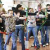 Students compete in last month\'s regional archery shoot. The state Archery in the Schools tournament will be Wednesday beginning at 9 a.m. in the Travel and Transportation Building on the state fairgrounds. PAUL B. SOUTHERLAND