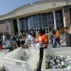 Students help to load food collected for the Regional Food Bank of Oklahoma at Bishop McGuinness High School Friday, November 9, 2012. The school collected 75,660 pounds of food. Photo by Doug Hoke, The Oklahoman