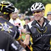Photo -   FILE - In this Aug. 22, 2010, file photo, cyclist Lance Armstrong greets fellow riders prior to the start of his Livestrong Challenge 10K ride for cancer in Blue Bell, Pa. Even after whistleblowers unveiled their scathing report portraying Armstrong as an unrepentant drug cheat, the argument over what to make of his life story rages on. (AP Photo/Bradley C Bower, File)