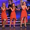 """Alyssa Danley, left, Abby Mauck, center, and Molly Singleton, right, sing """"Someday."""" during the Edmond Memorial Follies Saturday Jan. 25, 2014. Photo by M. Tim Blake, for The Oklahoman"""