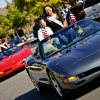 The homecoming court ride in convertible Corvettes during the Edmond Santa Fe High School homecoming parade. Photo by Chris Landsberger, The Oklahoman CHRIS LANDSBERGER