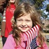 Avery Zike, 4 from Blanchard, waving an American flag while watching the Veterans Day Parade in Norman Friday, Nov. 11, 2011. Photo by Paul B. Southerland, The Oklahoman