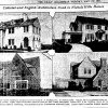 "Left: This image from the May 17, 1931, issue of The Daily Oklahoman shows G.A. Nichols' work as it happened. The caption reads: ""Pictured above are four large residences designed and built by G.A. Nichols Inc. in Nichols Hills. Upper left is a colonial home at 1509 Camden way, just south of the nine-hole golf course. Upper right is another colonial home at 6802 Grand Boulevard. Lower left is an English home at 1504 Wilshire Boulevard, which has been purchased by Leon G. Voorhees, vice-president of the Tradesmens National Bank. Lower right is another English dwelling at 6800 Grand Boulevard, facing the park."" The Oklahoman archives"