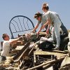 MAY 3, 1999 TORNADO: Tornado damage: Friends of Mark and Brenda Meadors remove items from the Meadors home destroyed by Monday\'s tornado. Mark is coach of a little league baseball team, and parents of the players arrived at the Meadors home to assist in the salvage of personal items and keepsakes.
