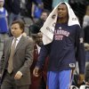 Oklahoma City\'s Kevin Durant (35) and head coach Scott Brooks walk of the court following the pre season NBA game between the Dallas Mavericks and the Oklahoma City Thunder at the American Airlines Center in Dallas, Sunday, Dec. 18, 2011. Photo by Sarah Phipps, The Oklahoman
